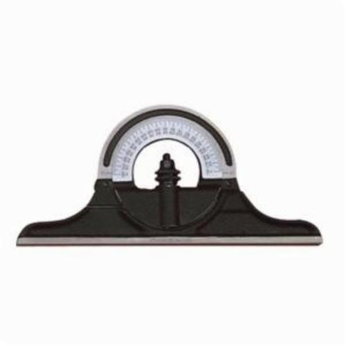 Starrett® CPR-1224S Reversible Protractor Head, For Use With Combination Square, Combination Sets and Bevel Protractor, Cast Iron, Black Smooth