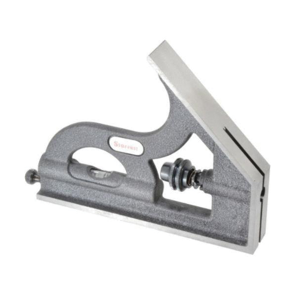 Starrett® H11-1224 Square Head, Fits 18 in Blade, For Use With Combination Square, Combination Set and Bevel Protractor, Cast Iron, Black Wrinkle