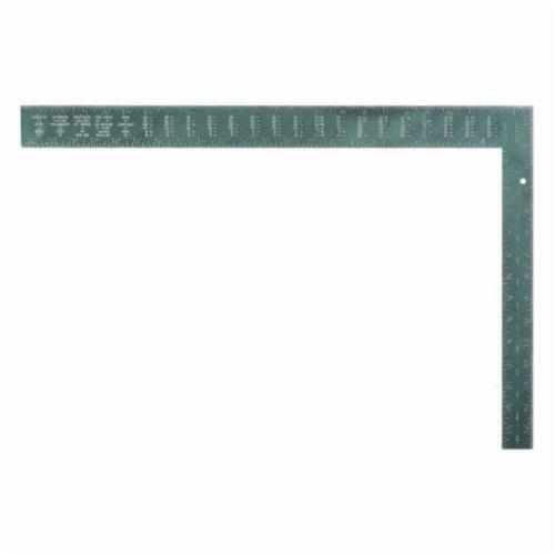 Starrett® RSS-24 L-Shape Standard Rafter Square, 24 in L x 2 in W, 1/16ths Graduation, 16 x 1-1/2 in Tongue, Steel