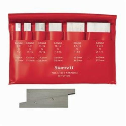 Starrett® S154LZ 6-Piece Adjustable Parallel Set, 9/32 in THK, Steel, +/-0.0001 in