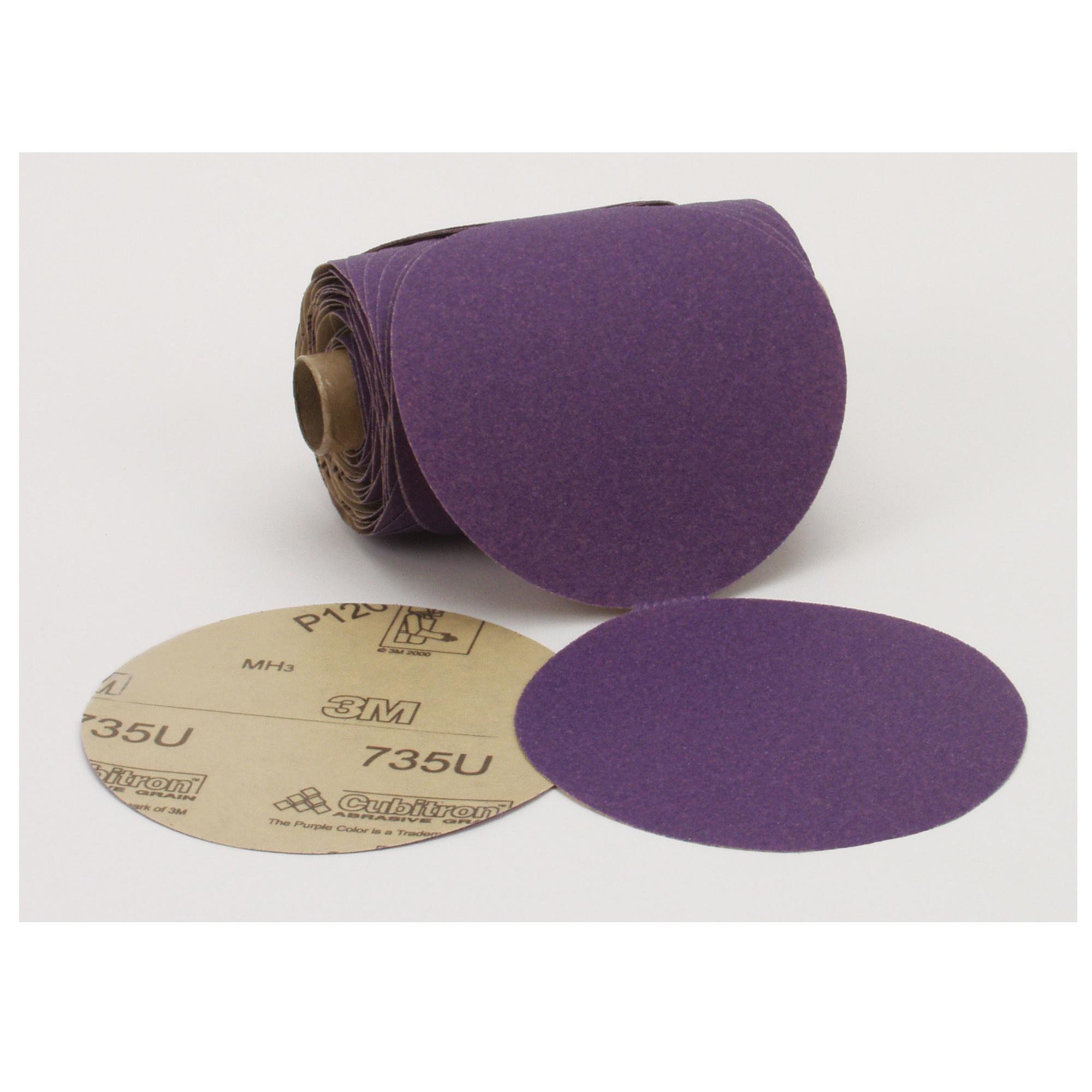 Stikit™ 051111-51231 Open Coated PSA Abrasive Disc Roll, 5 in Dia, P120 Grit, Fine Grade, Ceramic Abrasive, Paper Backing