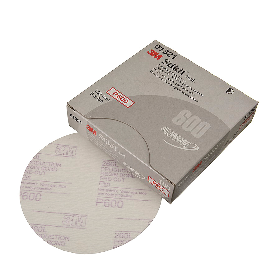 Stikit™ 051131-01321 PSA Coated Abrasive Disc, 6 in Dia, P600 Grit, Fine Grade, Aluminum Oxide Abrasive, Film Backing
