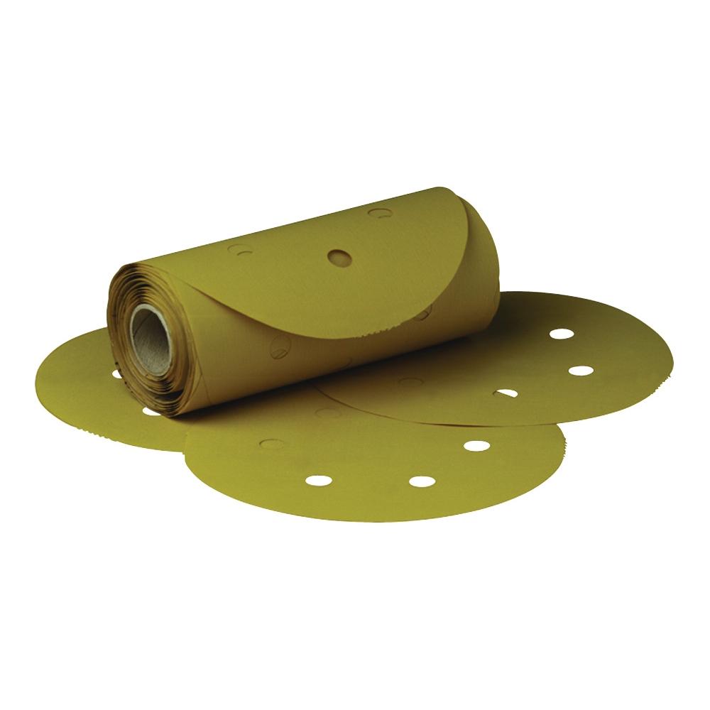 3M™ Stikit™ 051131-01382 Open Coated PSA Abrasive Disc Roll, 6 in Dia Disc, P100 Grit, Coarse Grade, Aluminum Oxide Abrasive, Film Backing