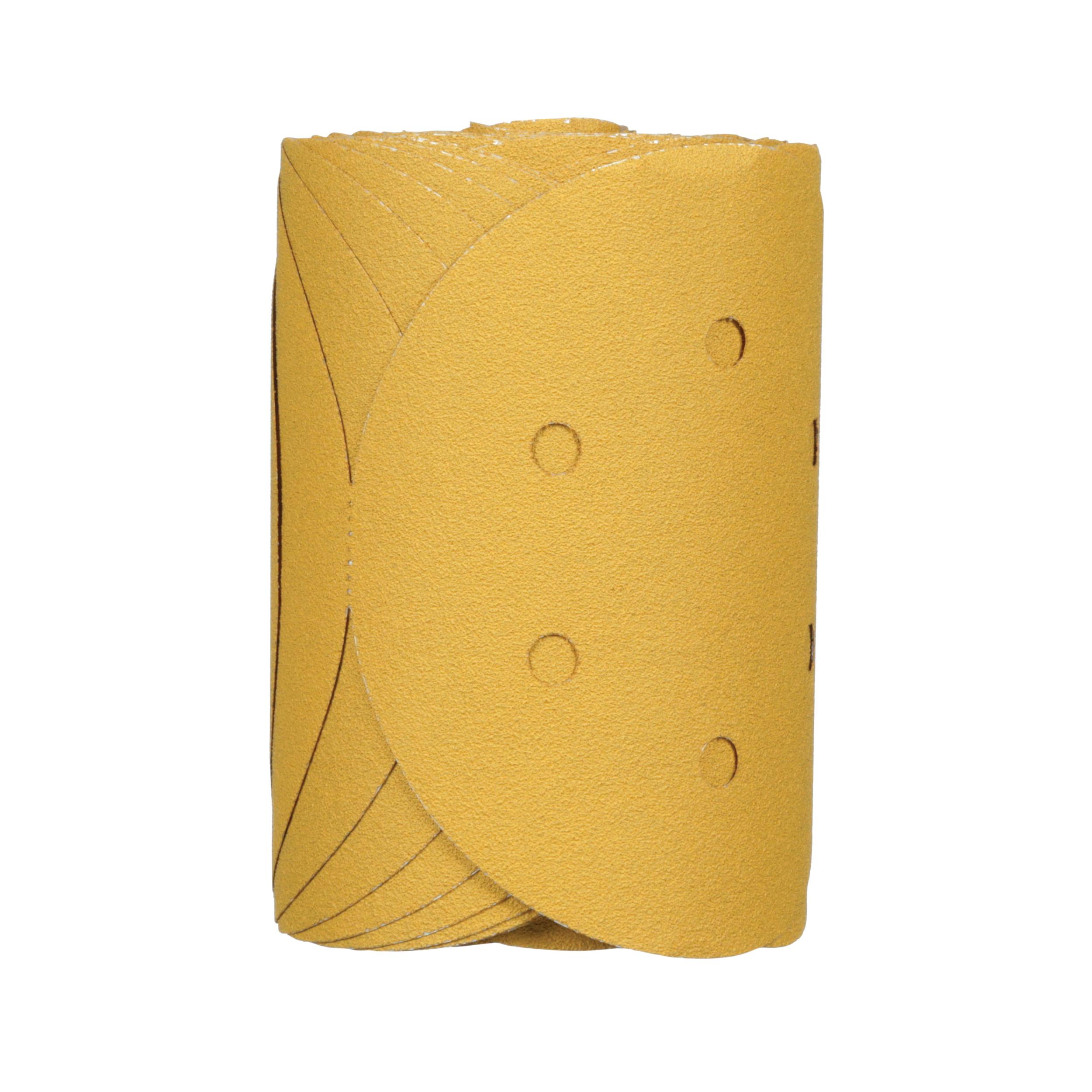 3M™ Stikit™ 051131-01383 Open Coated PSA Abrasive Disc Roll, 6 in Dia Disc, P80 Grit, Coarse Grade, Aluminum Oxide Abrasive, Film Backing