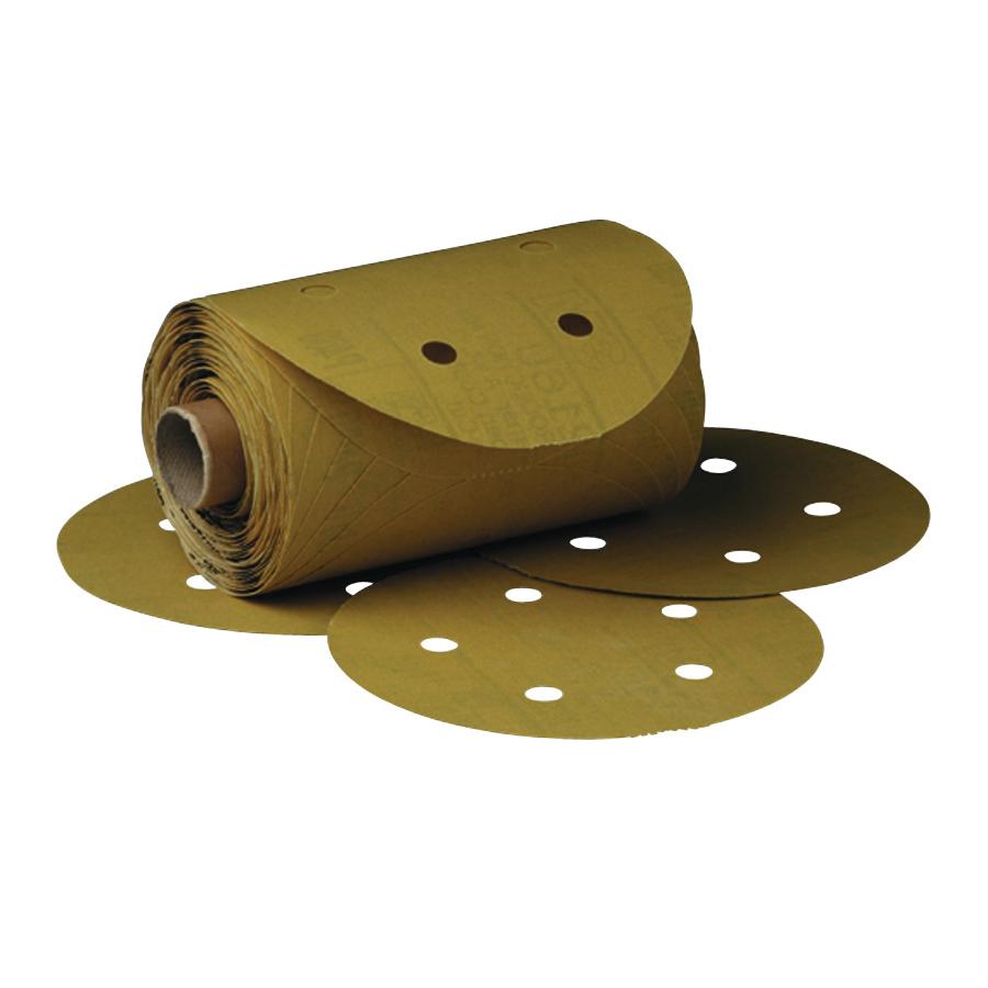 Stikit™ 051131-01622 Open Coated PSA Abrasive Disc Roll, 5 in Dia, P240 Grit, Very Fine Grade, Aluminum Oxide Abrasive, Paper Backing