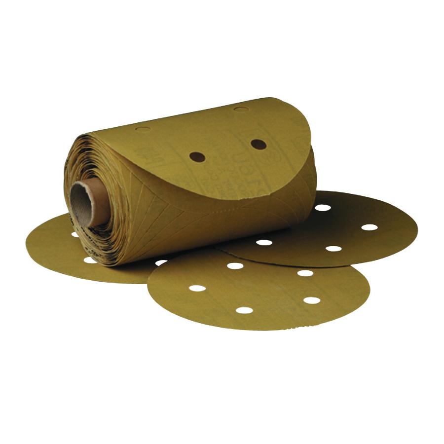 3M™ Stikit™ 051131-01626 216U Open Coated PSA Centerless Grinding Wheel, 5 in Dia Disc, P120 Grit, Fine Grade, Aluminum Oxide Abrasive, Paper Backing