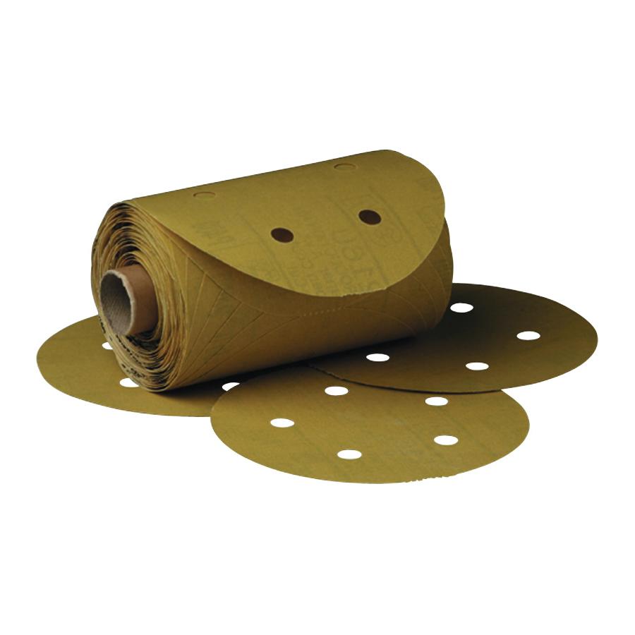 3M™ Stikit™ 051131-01633 Open Coated PSA Abrasive Disc Roll, 6 in Dia Disc, P500 Grit, Medium Grade, Aluminum Oxide Abrasive, Paper Backing