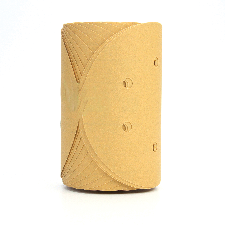 3M™ Stikit™ 051131-01638 Open Coated PSA Carbide Burr, 6 in Dia Disc, P220 Grit, Coarse Grade, Aluminum Oxide Abrasive, Paper Backing
