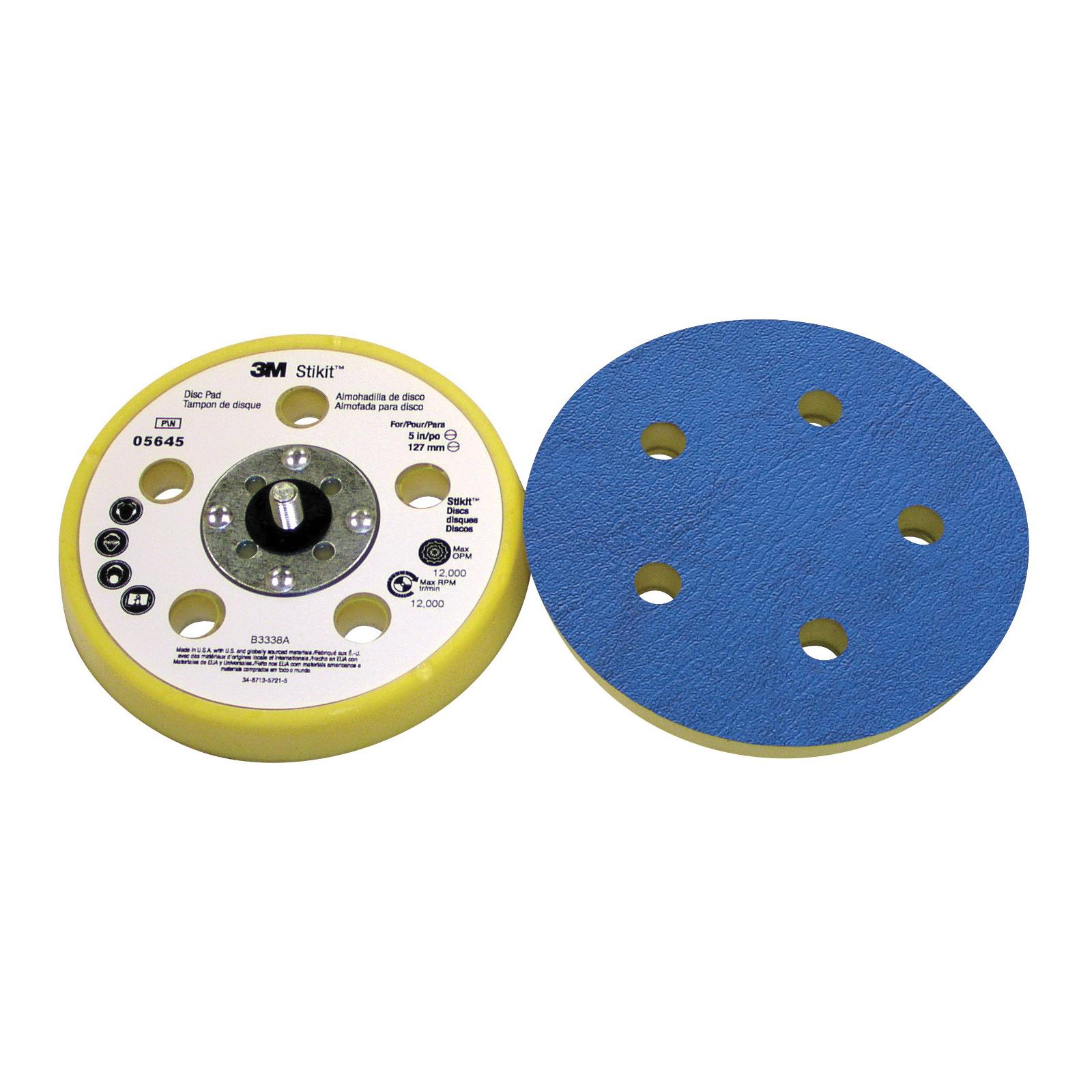 3M™ Stikit™ 051131-05645 Dust Control Soft Density Carbide Burr, 5 in Dia Pad, 3M™ Stikit™ Attachment