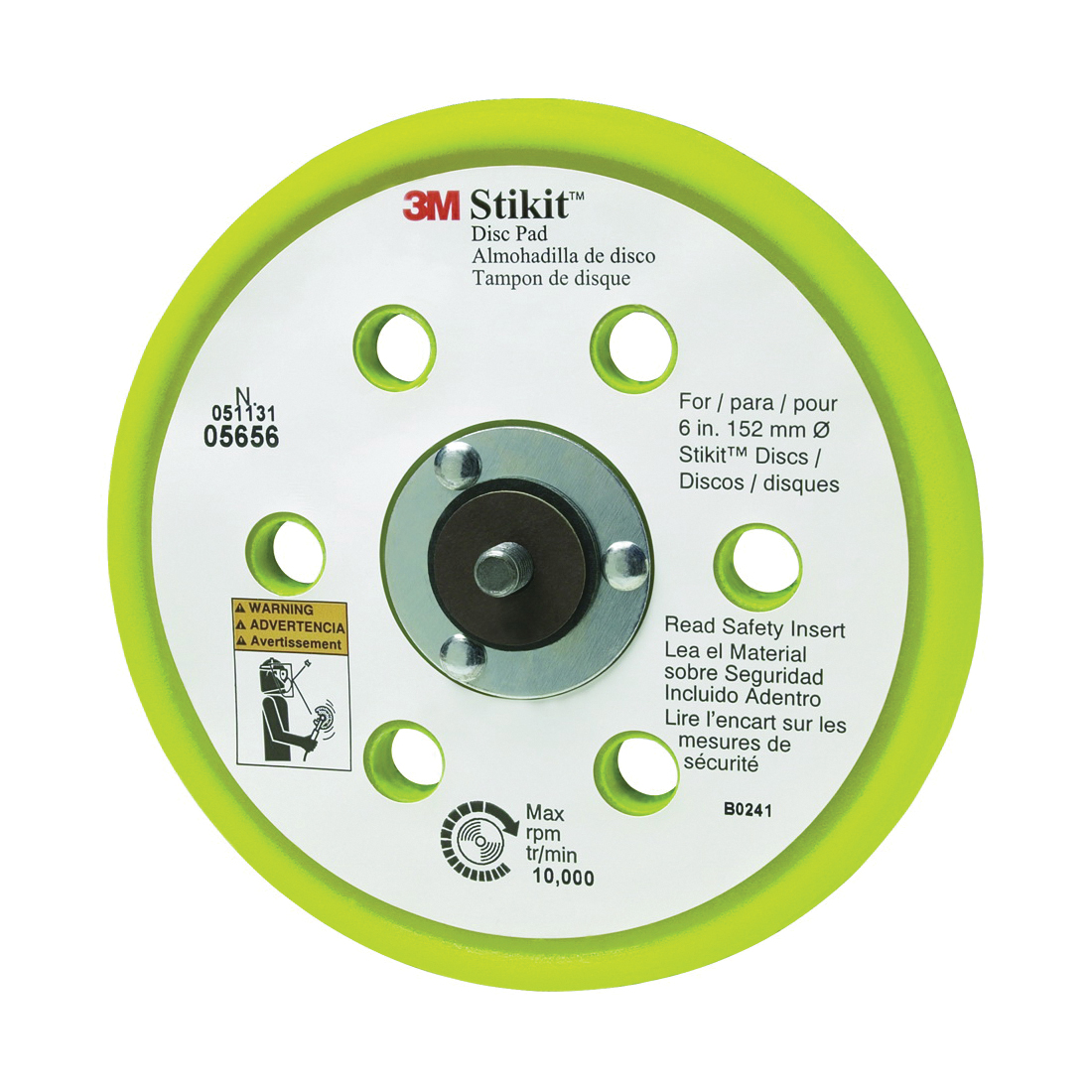 3M™ Stikit™ 051131-05656 Firm Density Low Profile Disc Pad, 6 in Dia Pad, 3M™ Stikit™ Attachment