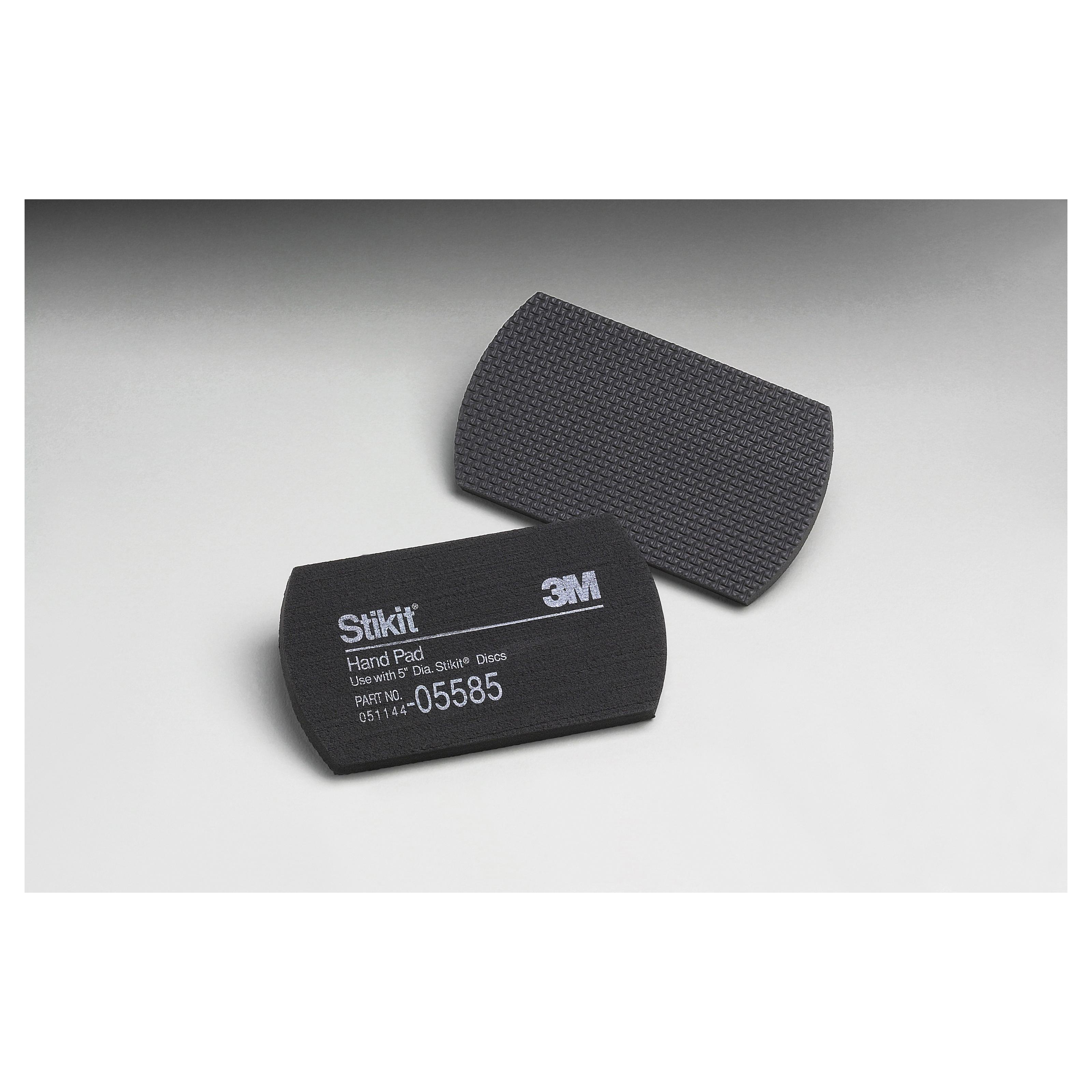 3M™ Stikit™ 051144-05585 Regular Hand Pad, 5 in L, 2-3/4 in W W/Dia, 3/8 in THK