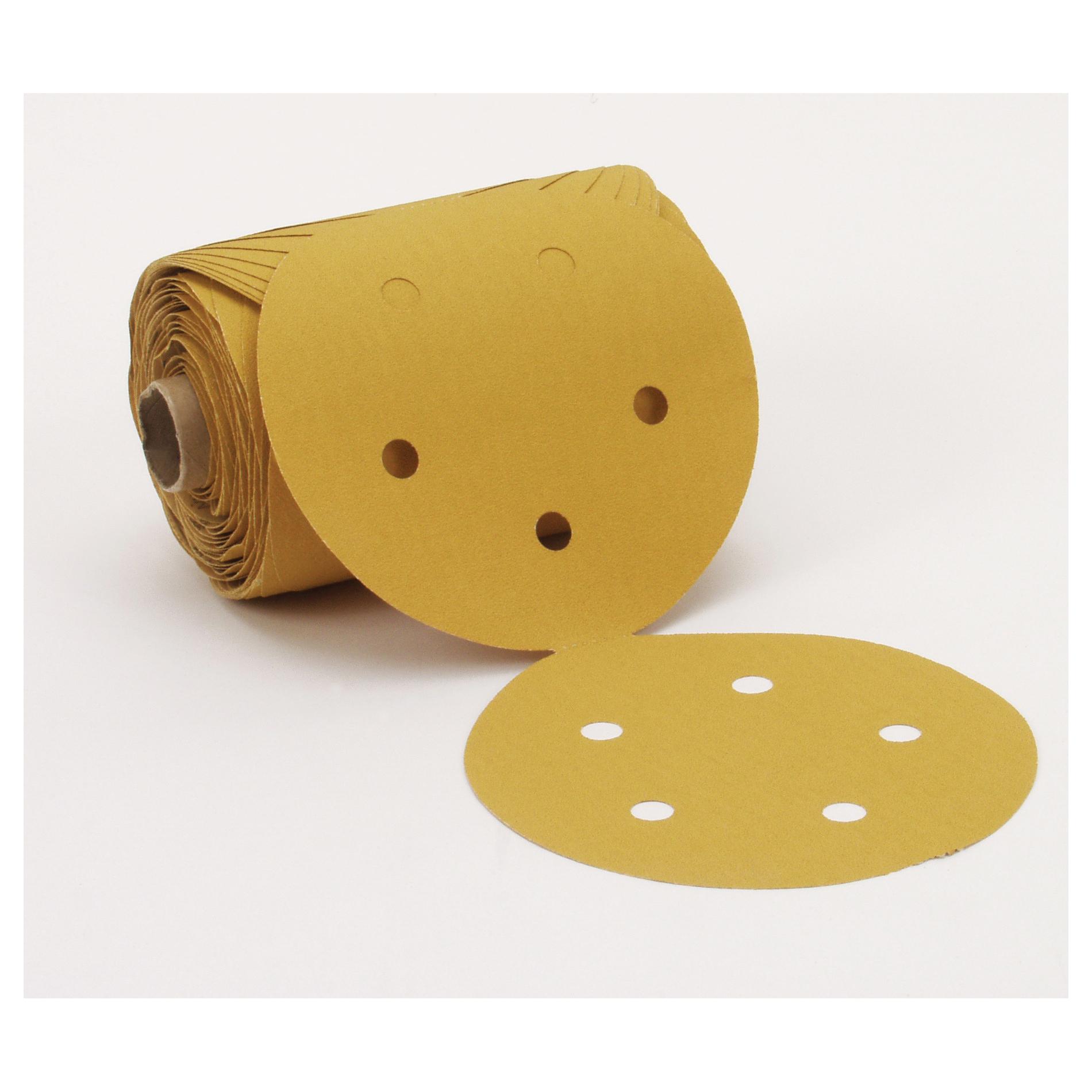 Stikit™ 051144-13669 Closed Coated PSA Abrasive Disc Roll, 5 in Dia, P120 Grit, Fine Grade, Aluminum Oxide Abrasive, Paper Backing