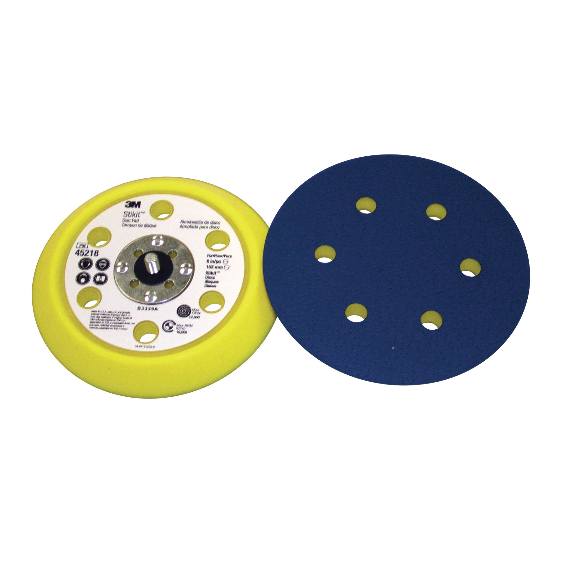 3M™ Stikit™ 051144-45218 Adhesive Back Dust Control Medium Density Disc Pad, 6 in Dia Pad, 3M™ Stikit™ Attachment