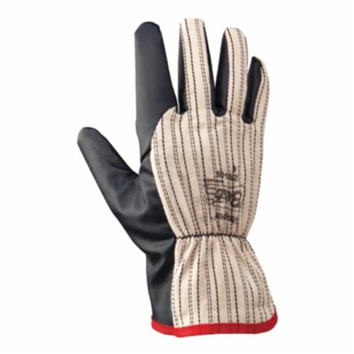 Strapper® 2790-09 2790 General Purpose Gloves, Coated/Drivers, Gunn Cut/Wing Thumb Style, L/SZ 9, Nitrile Palm, Cotton/Polyester, Navy Blue/White, Slip-On Cuff, Nitrile Coating, Resists: Abrasion, Cut, Puncture and Tear, Cotton/Jersey/Polyester Lining