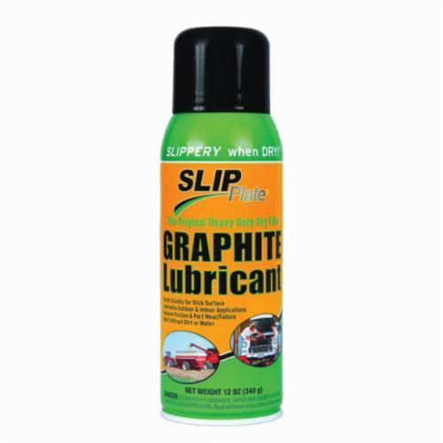 Superior Graphite® SLIP Plate® 45531 Dry Lubricant, 12 oz Aerosol Can, Aerosol Can