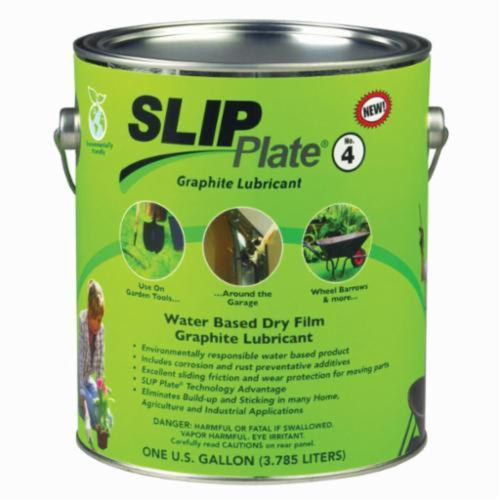 Superior Graphite® SLIP Plate® #4 45538 Dry Lubricant, 1 gal Can, Liquid Form, Dark Gray, 1.18