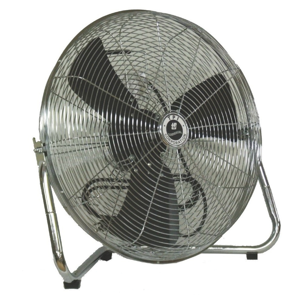 TPI CF Series 1-Phase Standard Workstation Floor Fan, 18 in Blade, 2550/2700/3150 cfm, 120 VAC, 1.4 A