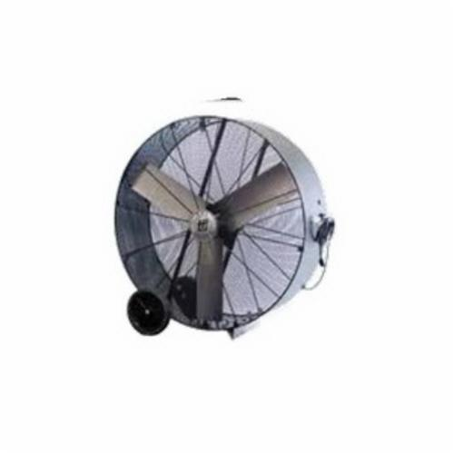 TPI PB30D 1-Phase Direct Drive Enclosed Standard Portable Blower, 120 VAC, 1/4 hp, 6000/7800 cfm, 30 in, Aluminum Propeller, Domestic