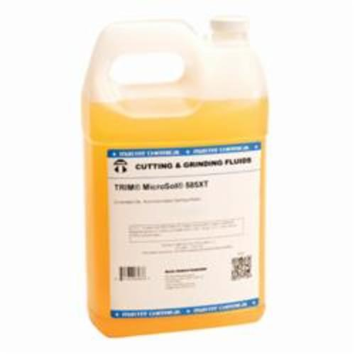 TRIM® MS585XT/1 MicroSol® 585XT High Lubricity Non-Chlorinated Semi-Synthetic Microemulsion Coolant, 1 gal Jug, Mild Amine, Liquid, Amber (Concentrate)/White Microemulsion (Working Solution)