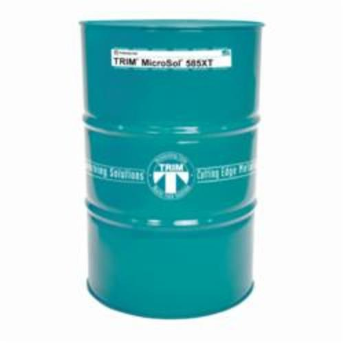 TRIM® MS585XT/54 MicroSol® 585XT High Lubricity Non-Chlorinated Semi-Synthetic Microemulsion Coolant, 54 gal Drum, Mild Amine Odor/Scent, Liquid Form, Amber (Concentrate)/White Microemulsion (Working Solution)