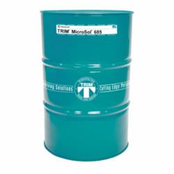TRIM® MS685/54 MicroSol® 685 High Lubricity Semi-Synthetic Metalworking Fluid, 54 gal Drum, Mild Amine, Liquid, Amber (Concentrate)/Light Yellow (Working Solution)