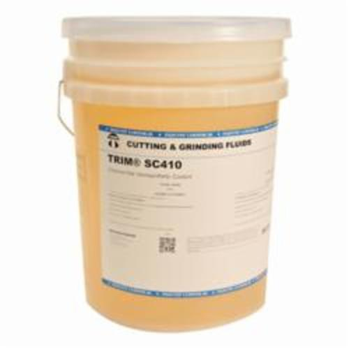 TRIM® SC410/5 Chlorine Free Semi-Synthetic Coolant, 5 gal Pail, Yellow/Orange (Concentrate)/Light Yellow (Working Solution), Liquid