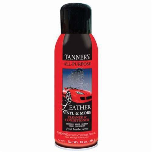 Tannery® 40173 Non-Flammable Water Based Revitalizer/Conditioner, 16 oz Aerosol Can, Emulsion, Milky White, Leather