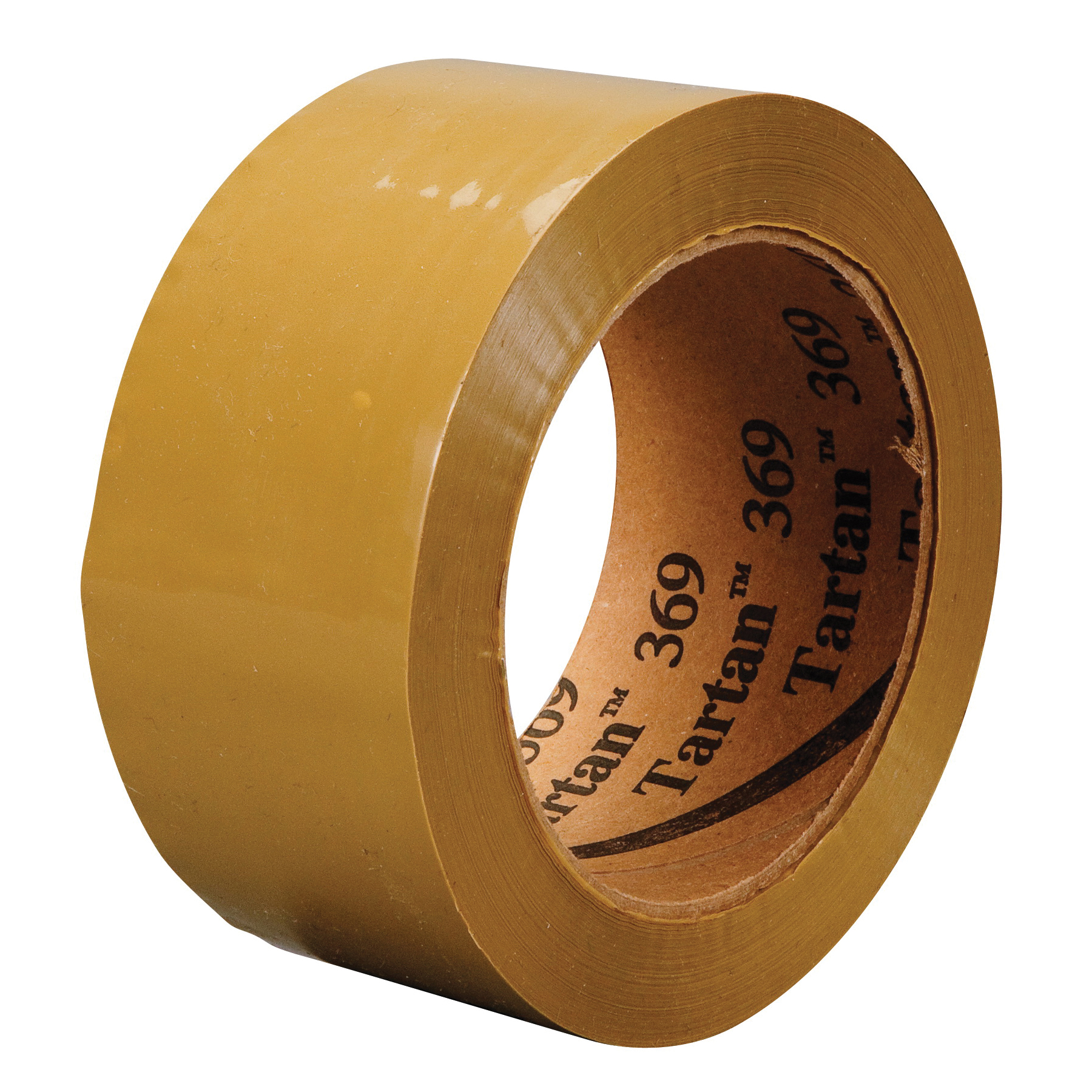 Tartan™ 021200-61547 General Purpose Box Sealing Tape, 50 m L x 48 mm W, 1.6 mil THK, Hot Melt Synthetic Rubber Resin Adhesive, Polypropylene Film Backing, Tan