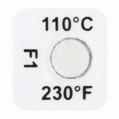 Tempil® Tempilabel® 026250 21 Series Irreversible Temperature Indicating Label, 1 Temperature Positions, 100 deg F, +/-2% deg F