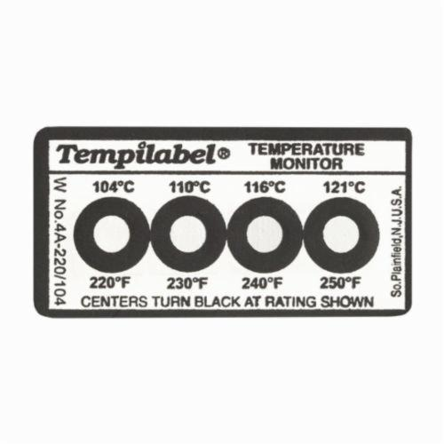 Tempil® Tempilabel® 026702 4 Series Irreversible Temperature Indicating Label, 4 Temperature Positions, 170 deg F, 180 deg F, 190 deg F, 200 deg F, +/-2% deg F