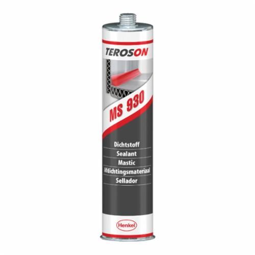 Teroson® 261896 MS 930™ 1-Part General Purpose Polymer Sealant, 310 mL Cartridge, Solid, Black, 1.5