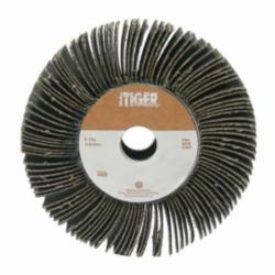 Tiger® 53327 Unmounted Coated Abrasive Flap Wheel, 6 in Dia, 2 in W Face, 80 Grit, Medium Grade, Aluminum Oxide Abrasive