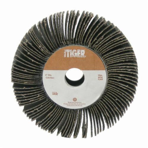 Tiger® 53287 Unmounted Coated Abrasive Flap Wheel, 6 in Dia, 1 in W Face, 80 Grit, Medium Grade, Aluminum Oxide Abrasive