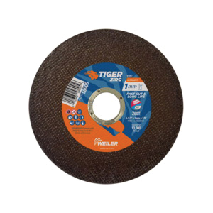 Tiger® 58005 Fast and Long Life Super Thin Ultra Cut Cut-Off Wheel, 4-1/2 in Dia x 1 mm THK, 7/8 in Center Hole, Z60T Grit, Zirconia Alumina Abrasive