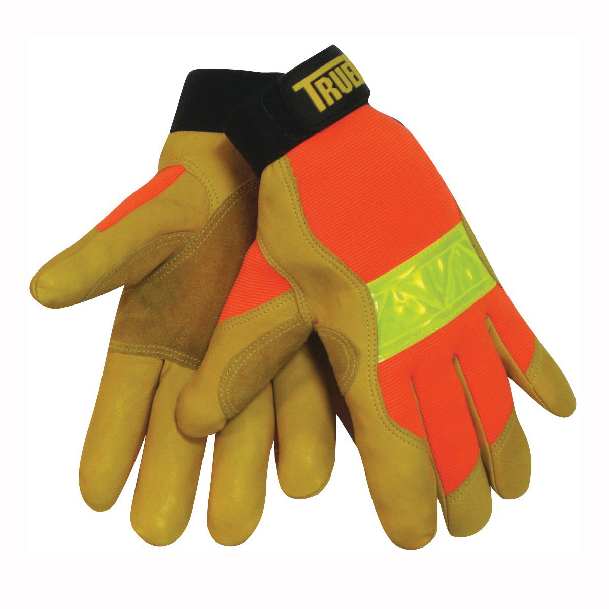 Tillman™ TrueFit™ 1476 Premium Grade General Purpose Gloves, Leather Palm, Grain Cowhide Leather Palm, Spandex®, Gold, Elastic Cuff, Reinforced Thumb
