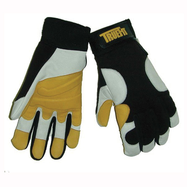 Tillman™ TrueFit™ 1490-2X Super Premium Grade General Purpose Gloves, Drivers, Grain Goatskin Leather Palm, Top Grain Goatskin Leather, Gold/Pearl, Elastic Cuff, Resists: Abrasion, Full Finger