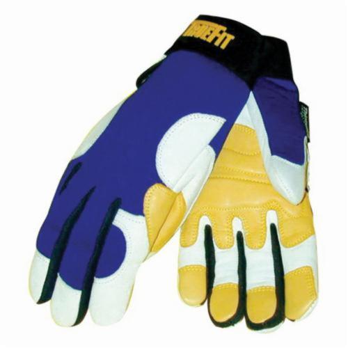 Tillman™ TrueFit™ 1495-L Super Premium Grade General Purpose Gloves, Weather, L, Grain Goatskin Leather Palm, Grain Goatskin Leather, Gold/Pearl, Elastic Cuff, 3M™ Thinsulate™ Lining, Clute Cut