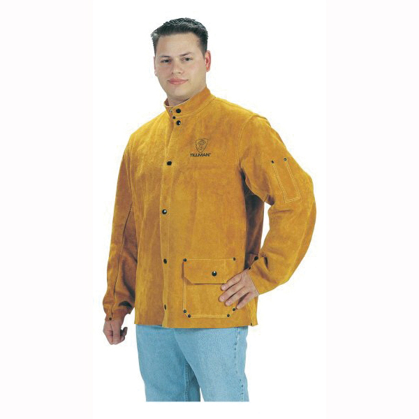 Tillman™ 3280-5X Protective Jacket, Bourbon Brown, Side Split Cowhide Leather