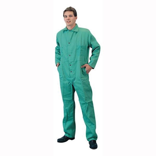 Tillman™ 6900-4XL Flame Retardant Coverall, 4XL, Green, Cotton Westex® FR7A®