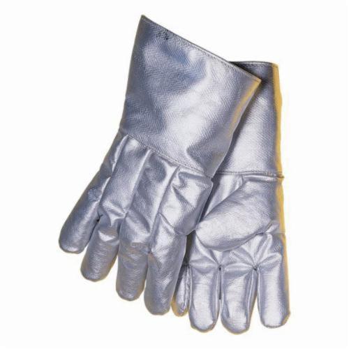 Tillman™ 993-XL Super Premium High Heat Gloves, XL, Aluminized Carbon Kevlar®, Silver, Wool, Acrylic Coating, 14 in L, 1500 deg F Max Temperature