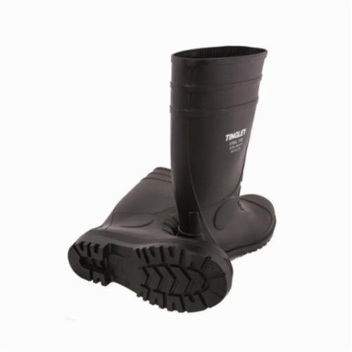 Tingley 31251-07 Economy Grade General Purpose Knee Boots, Men's, SZ 7, 15 in H, Steel Toe, PVC Upper, PVC Outsole, Resists: Acid, Alkalis, Caustics, Hydrocarbon, Salts and Water, Specifications Met: ASTM F2413-11 M I/75 C/75