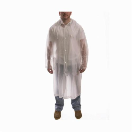 Tingley Tuff-Enuff™ C61210-MD Rain Coat With Detachable Hood, M, Clear, PVC, Resists: Water