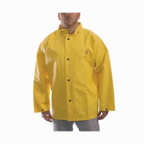 Tingley DuraScrim™ J56207-2X, Unisex, 2XL, Yellow, Polyester/PVC, Resists: Many Acids, Oils, Alcohols, Salts and Alkalies, Flame, Mildew and Water, ASTM D6413