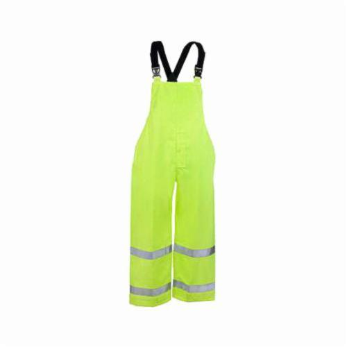 Tingley Icon™ O24122-LG 2-Piece Bib Overall, Unisex, L, Fluorescent Yellow Green, Polyurethane on 300D Polyester, 30 in L Inseam