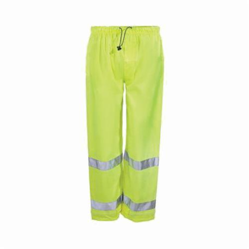 Tingley P23122-4X, 57 in Waist, 33 in L Inseam, Fluorescent Yellow/Green, Polyurethane on 150D Polyester