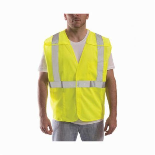 Tingley Job Sight™ V70522-4X-5X Break-Away Vest, 4XL to 5XL, Hi-Viz Fluorescent Yellow/Green, Polyester Mesh, Hook and Loop Closure, 2 Pockets, ANSI Class: Class 2, Specifications Met: ANSI/ISEA 107-2015 Type R