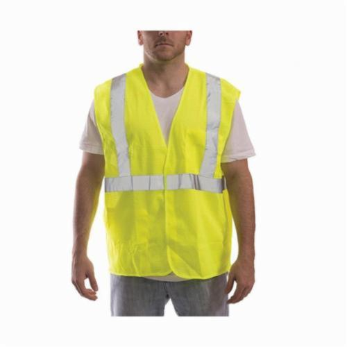 Tingley Job Sight™ V70622-L-XL Safety Vest, L to XL, Hi-Viz Fluorescent Yellow/Green, Polyester Mesh, Hook and Loop Closure, 2 Pockets, ANSI Class: Class 2, Specifications Met: ANSI/ISEA 107-2015 Type R