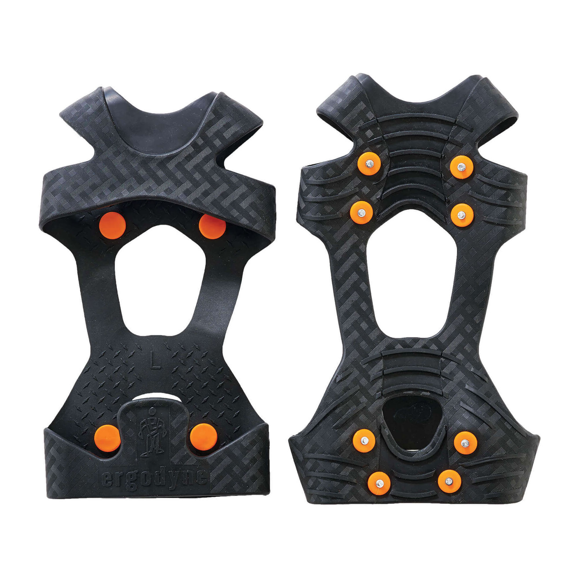 Trex™ Ice Traction 6300 1-Piece Ice Traction Device, Unisex, Carbon Steel/Stretchable Rubber, Black, For Use With Shoe and Boot
