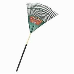 True Temper® 1922800 Leaf Rake, Polyethylene, Hardwood Handle