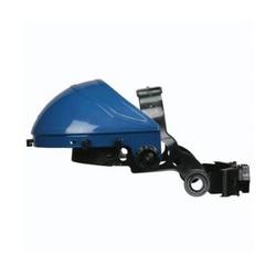 U.S. Safety™ 462000 Matrix® ValuGard Faceshield Headgear, Blue, Leatherette Sweatband/Polycarbonate, Ratchet Adjustment